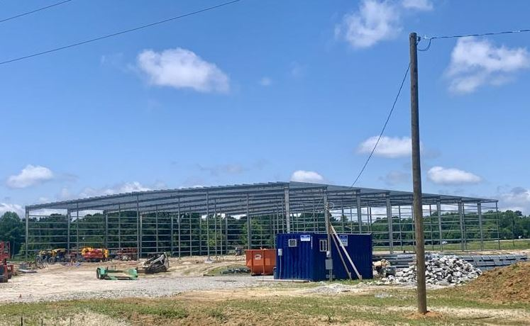 Tarboro shell building starts to take shape
