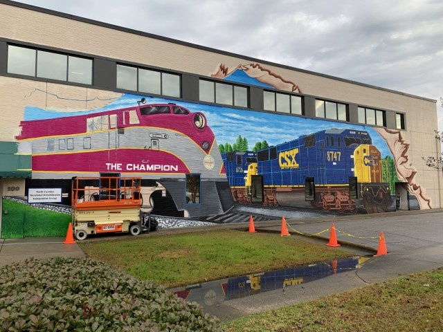 Mural project highlights city's rail past